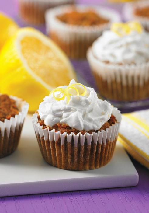 you won't believe that these carrot cupcakes with lemon coconut frosting are so good for you - gluten free dairy free nut free vegan