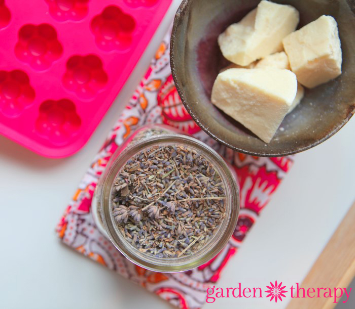 DIY How to Make Super Simple Lavender Cocoa Butter Bath Melts