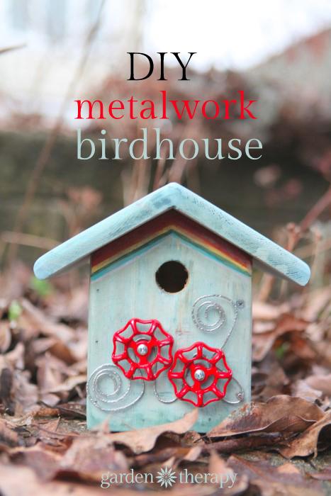 DIY junk metalwork birdhouse