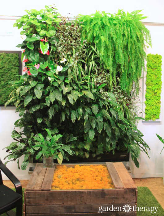 Large indoor vertical garden from ByNature Studio Tour
