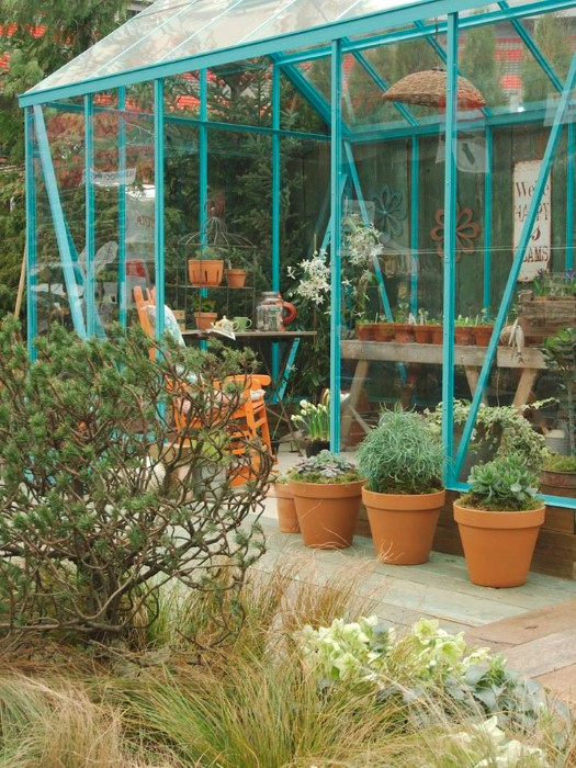 The Blue Greenhouse Garden Designed by Rose Blamey and Kimberley Loewen