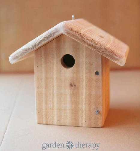 Unfinished wood birdhouse from how to make a metalwork birdhouse