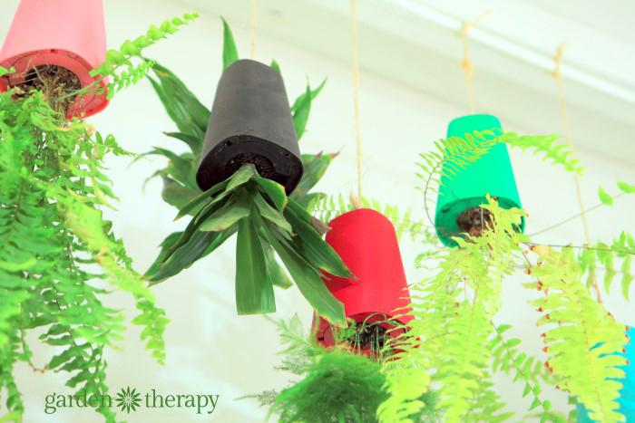 Upside down plant pots from ByNature Studio Tour