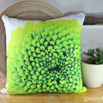 Garden Photography Flower Throw Pillows