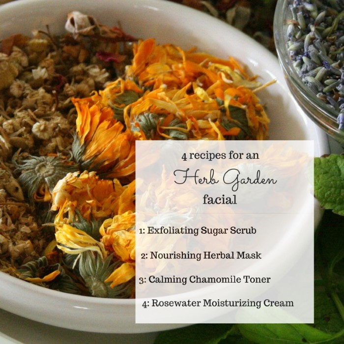 Use these 4 recipes to make a natural and healing garden herb facial