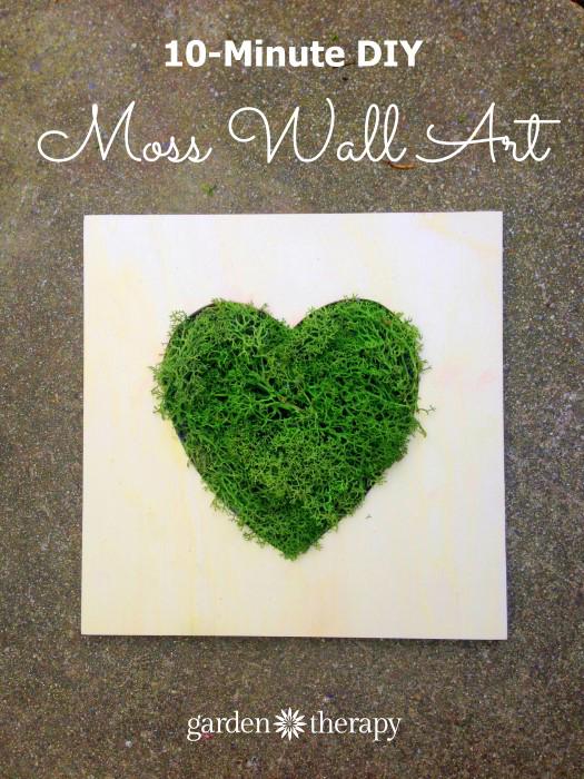 10 minute diy moss wall art