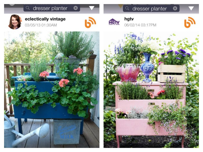BHome App Dresser Planter Search