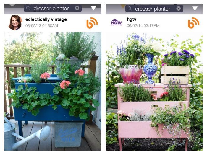 BHome App Dresser Planter Search