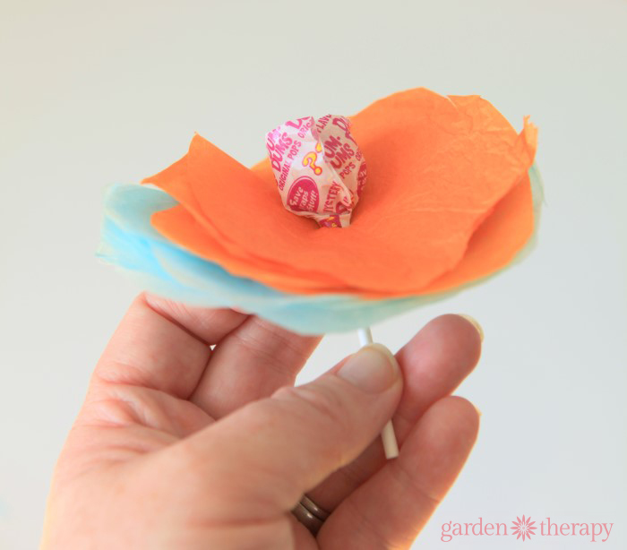 How to Make Lollipop Flowers Step 3