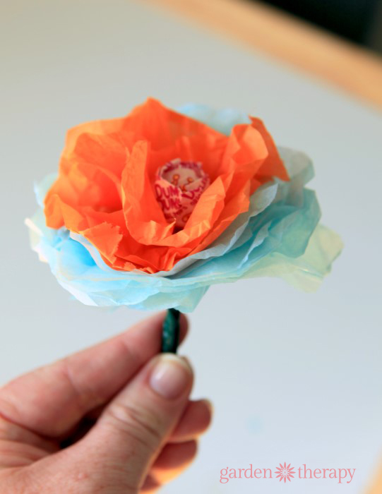 How to Make Lollipop Flowers Step 5