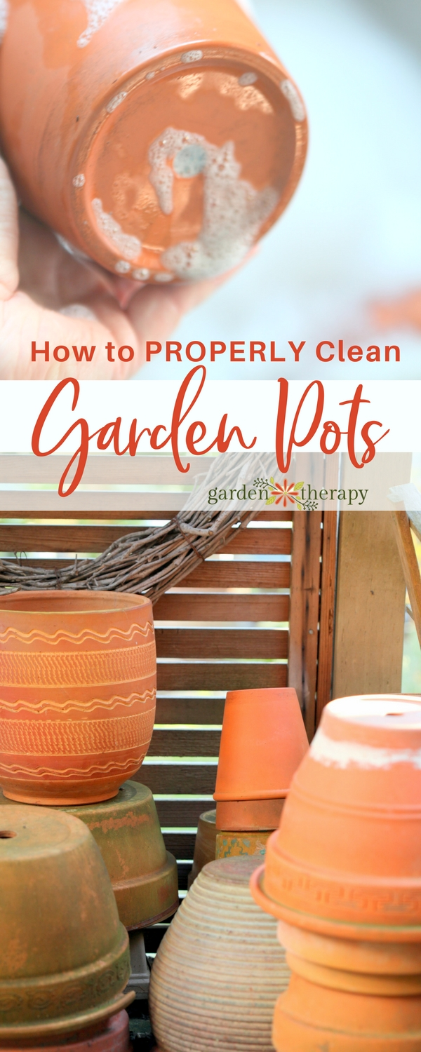 How to clean garden pots