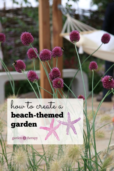 The elements you need to create a beachy seaside themed garden design