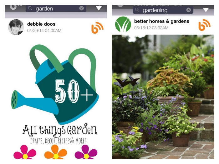 gardening garden search on bHome app