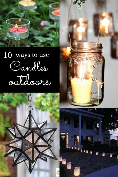10 ways to use candles outdoors this summer