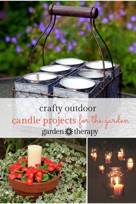 Crafty DIY Outdoor Candle Projects for in the Garden and many other ideas