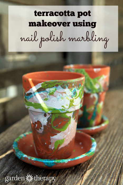 Terracotta Pot Makeover using Nail Polish