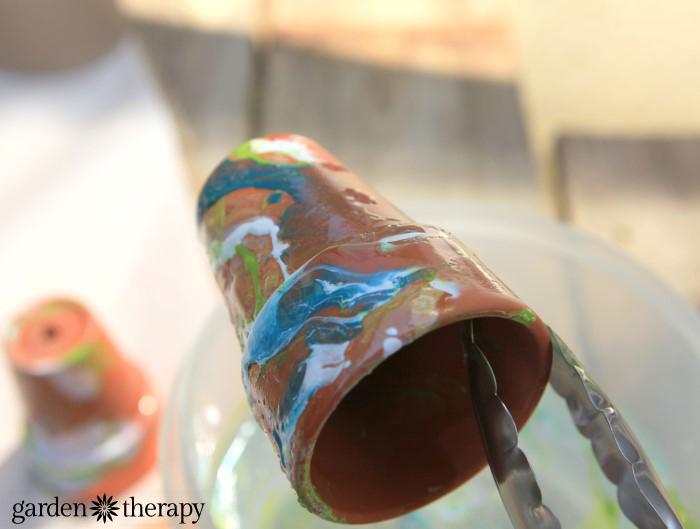 paint marbling pots