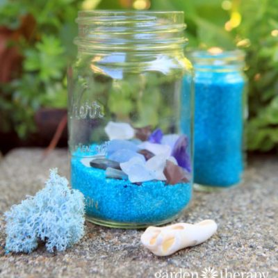 Beach Glass Solar Lights
