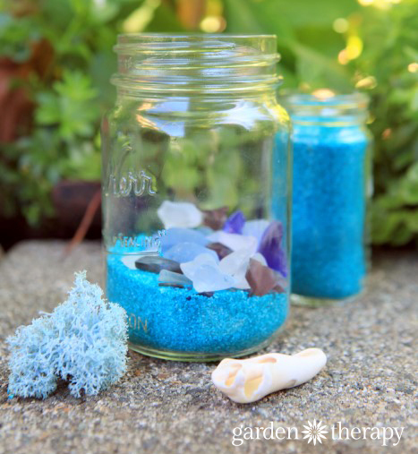 DIY Beach Mason Jar Solar Lights
