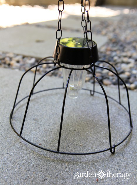 DIY Solar Light Chandelier