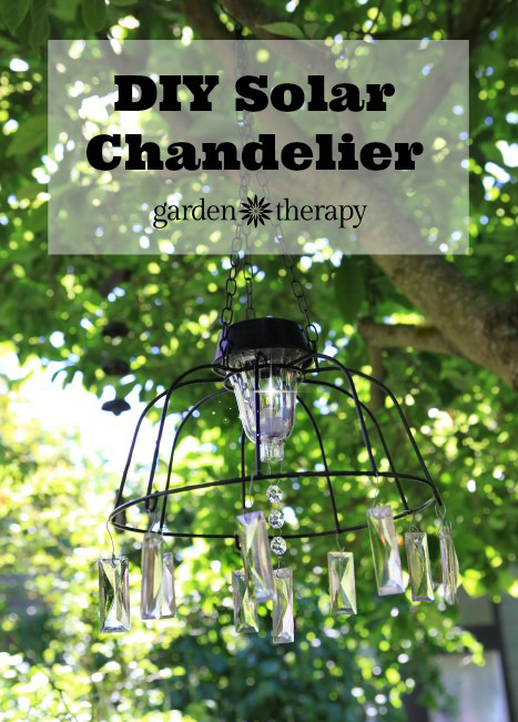 Fairy Light Project: DIY Solar Light Chandelier