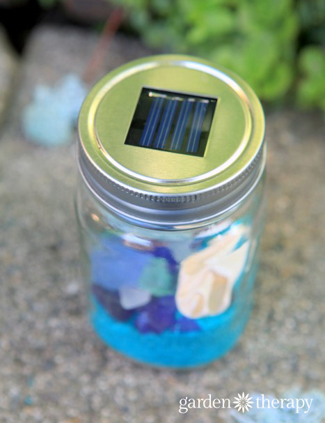 Decorative Beach Mason Jar Solar Lights