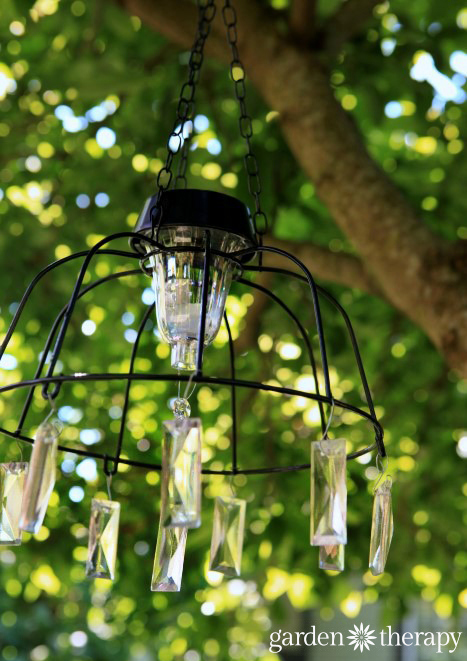 fairy light project diy solar light chandelier. Black Bedroom Furniture Sets. Home Design Ideas