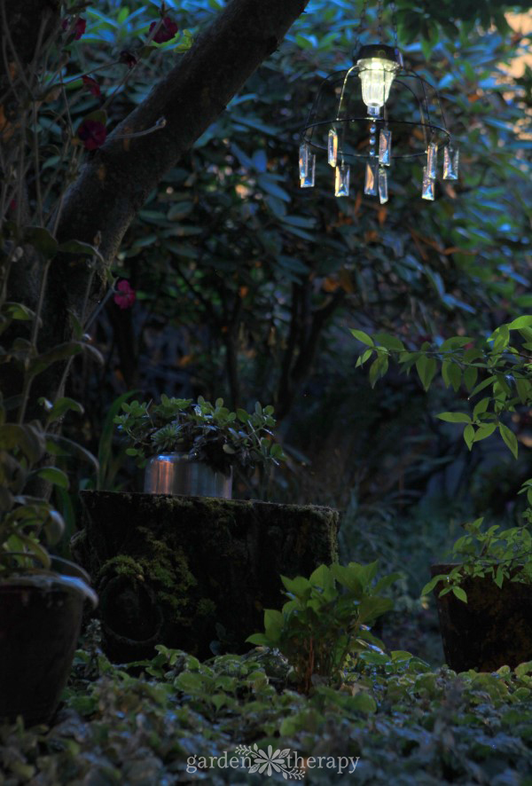 Fairy Garden Solar Light at night