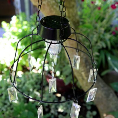 Hanging Solar Lights: Create Solar Fairly Lights with a DIY Chandelier