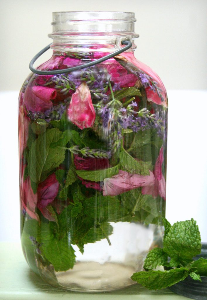 homemade floral water for skin