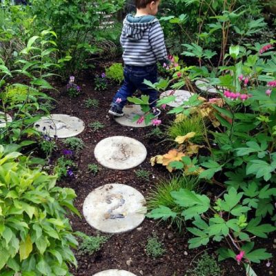Hopscotch Stepping Stones for the Garden
