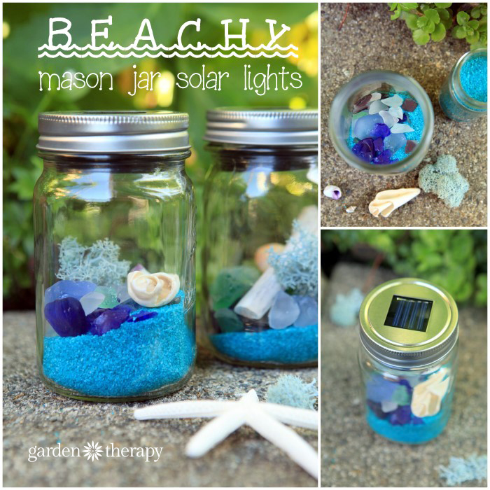How to Make Simple but Beautiful Beachy Mason Jar Solar Lights