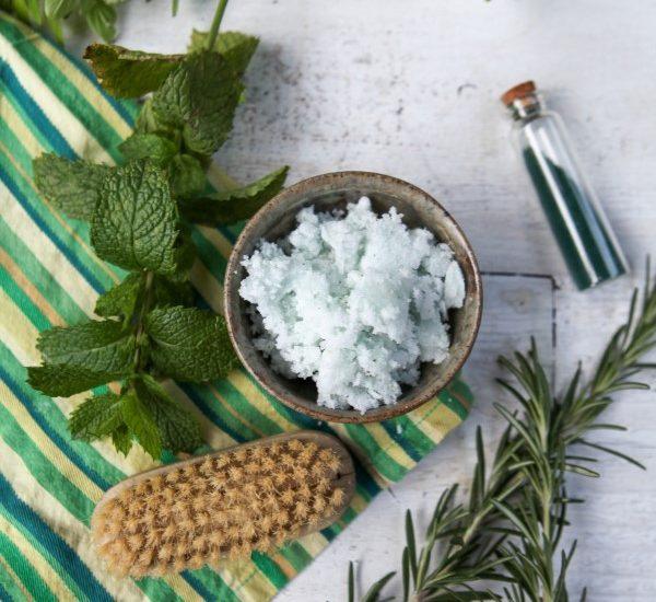 Rosemary and Mint Sugar Scrub