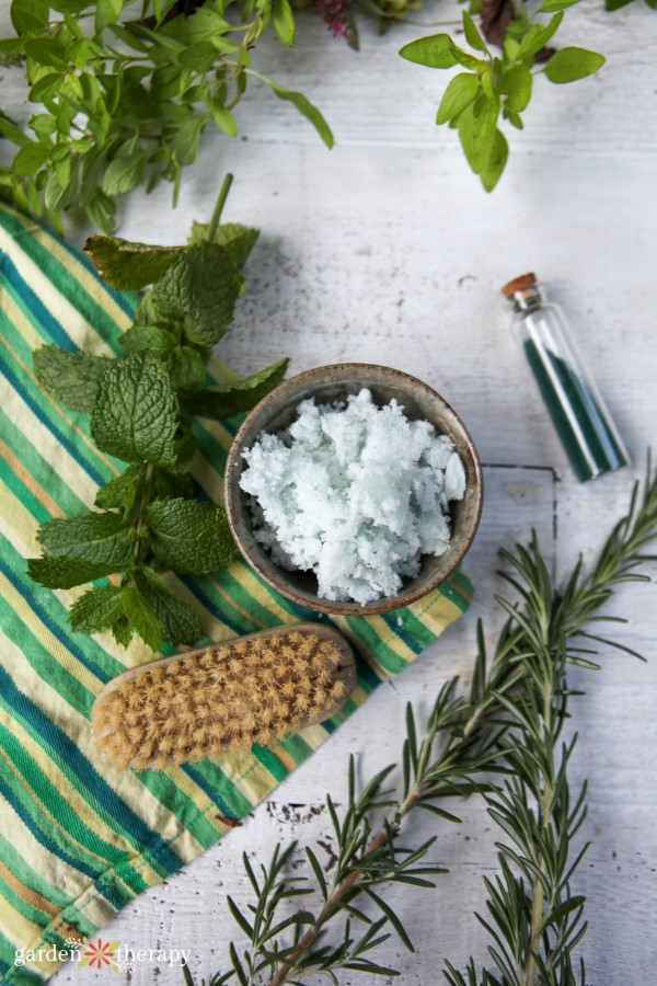 Rosemary and Mint Sugar Scrub