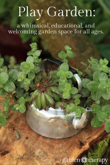 Tour a play garden - a whimsical space meant to invite in all ages to enjoy the garden