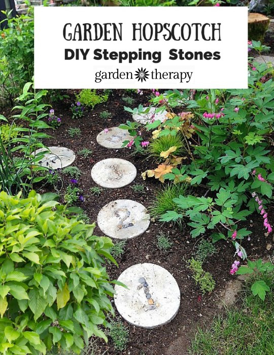 Turn the garden into a gorgeous play space with hopscotch stepping stones