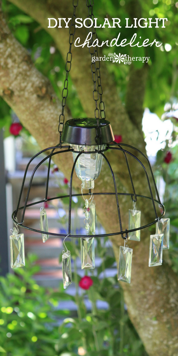solar light chandelier project