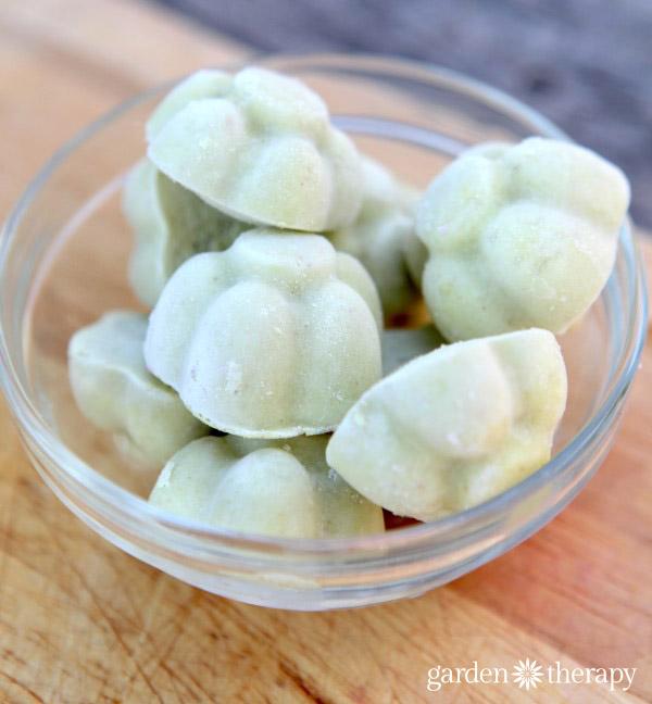 Avocado ice cream Cubes for Yonanas