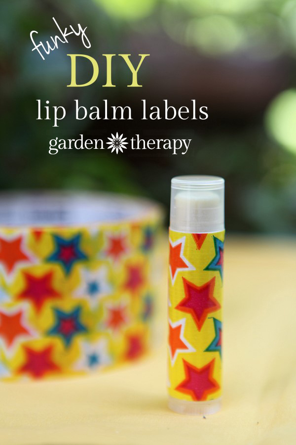 Funky and super simple DIY Lip Balm Labels idea