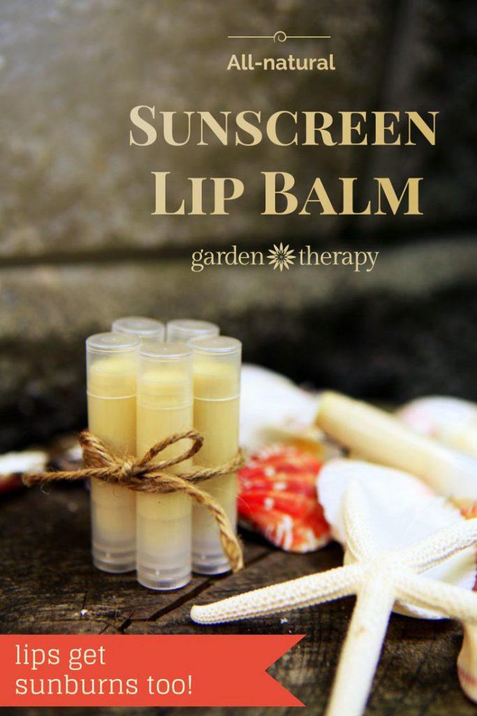 Make this SUNSCREEN LIP BALM! all-natural lip balm for sun protection DIY