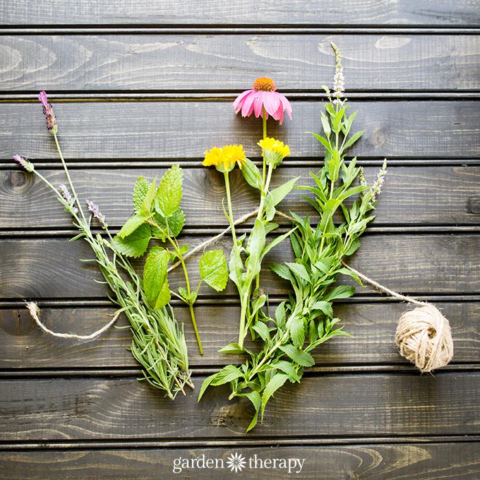 make a get welll soon herbal bouquet