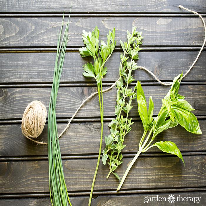 make a spaghetti dinner herbal bouquet