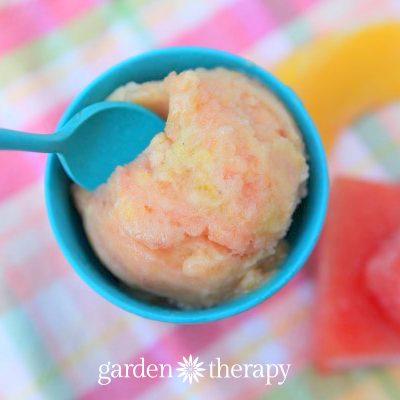 Sunshine in a Bowl: Watermelon Peach Banana Vegan Ice Cream