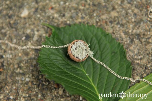 Acorn Cap Nest Necklace