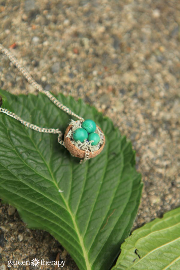 Acorn Cap Nest Necklace