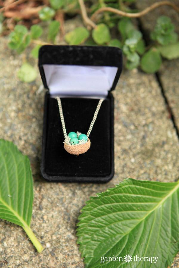 Acorn Cap Nest Necklace Fall Craft Project