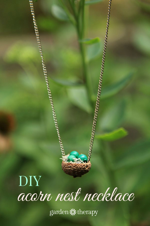 Acorn Nest Pendant Necklace