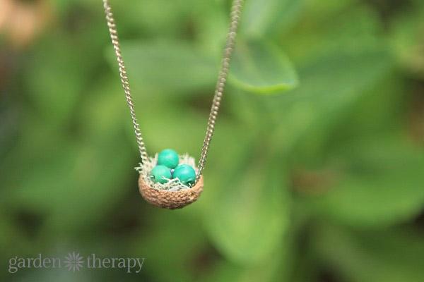 Adoreable Acorn Cap Nest Necklace