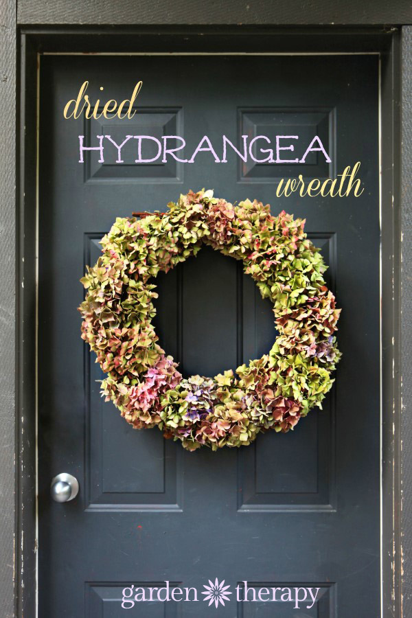 Dried Hydrangea Wreath DIY