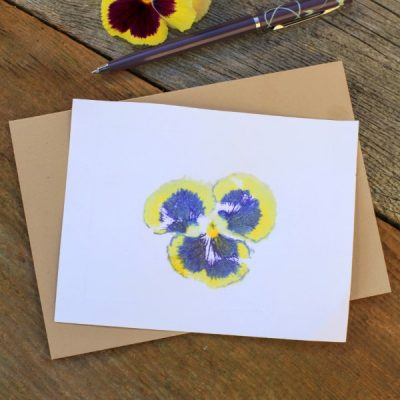 Hammered Flower Print Cards